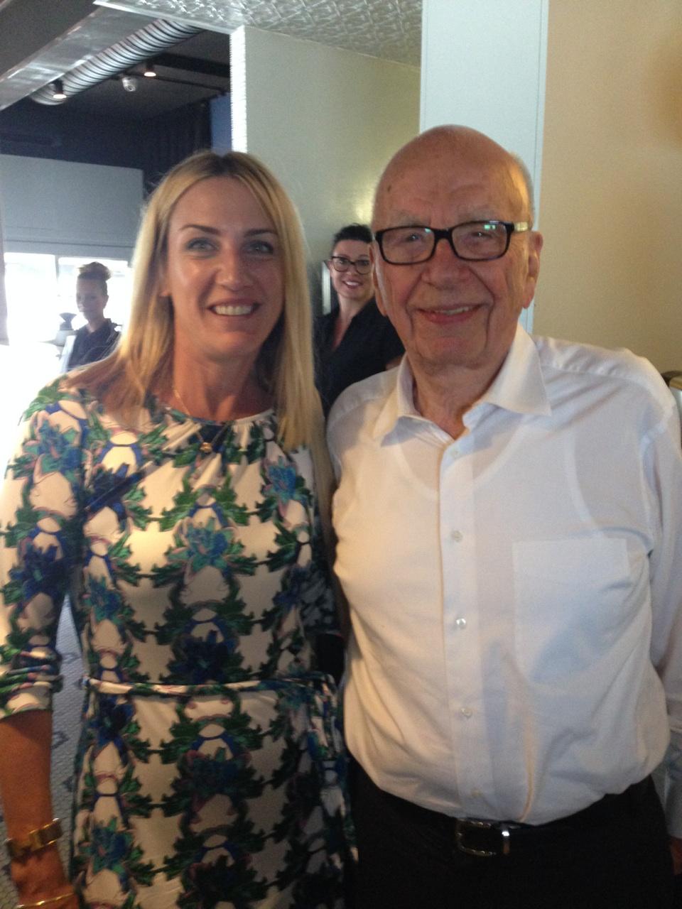 Rupert Murdoch visits JAM Corner Restaurant Townsville