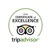 2016 tripadvisor certificate of excellence