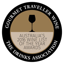 australian wine list of the year awards 2016