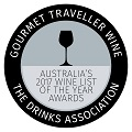 Gourmet Traveller 2017 Wine List of the Year Award